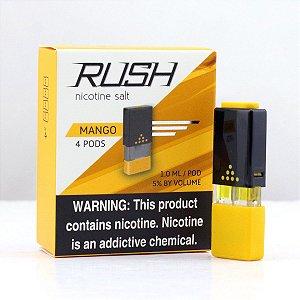 REFIL RUSH (PACK 4) MANGO - 100% JUUL COMPATIVEL E COM MAIS LIQUIDO