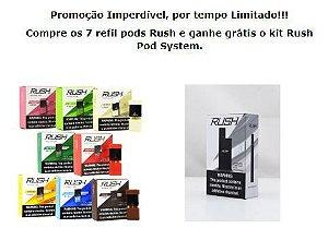Promoção Imperdível, por tempo limitado - KIT RUSH - APARELHO GRÁTIS NA COMPRA DOS PODS PACOTE COM 7 SABORES - MELHOR QUE O JUUL
