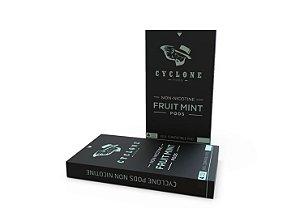 CYCLONE PODS FRUIT MINT - SEM NICOTINA - COMPATÍVEL COM JUUL
