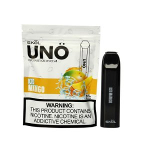 UNO POD DEVICE ICED MANGO - DESCARTAVEL 3PCS  - 6% NICOTINA - SKOL