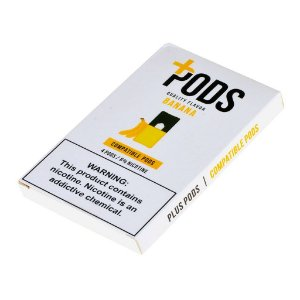 PLUS PODS BANANA (4 PACK) 6% SALT NIC