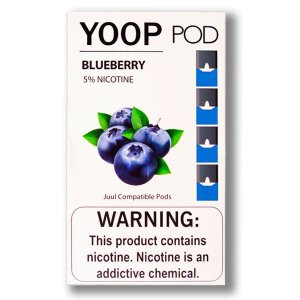 YOOP POD BLUEBERRY 50MG SALT NIC - COMPATÍVEL COM O JUUL