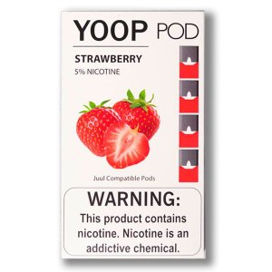 YOOP POD STRAWBERRY 50MG SALT NIC - COMPATÍVEL COM O JUUL