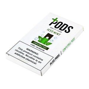 PLUS PODS ICED MINT (4 PACK) 6% SALT NIC (COMPATÍVEL COM O JUUL)