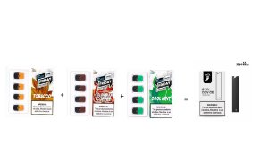 PROMOÇÃO NA VENDA DE 3 REFIL SKOL, SABORES  1 TOBACCO, 1 MINT E 1 COLOMBIAN COFFE, GRÁTIS 1 POD SYSTEM SKOL