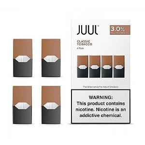 REFIL JUUL (PACK OF 4) TOBACCO CLASSICO 3% NIC SALT