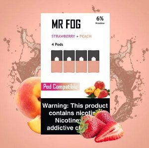 MR FOG STRAWBERRY+PEACH - JUUL COMPATIBLE 6% NICOTINE SALT