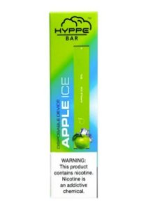 HYPPE BAR - DISPOSABLE POD DEVICE - DESCARTAVEL- APPLE ICE (maçã verde)
