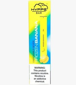HYPPE BAR - DISPOSABLE POD DEVICE - DESCARTAVEL- FROZEN BANANA (BANANA GELADA)