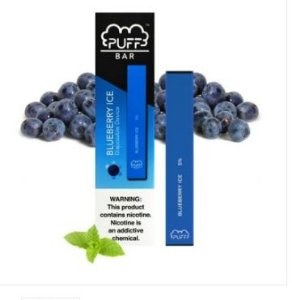 PUFF BAR - DISPOSABLE POD DEVICE - DESCARTAVEL- BLUEBERRY ICE