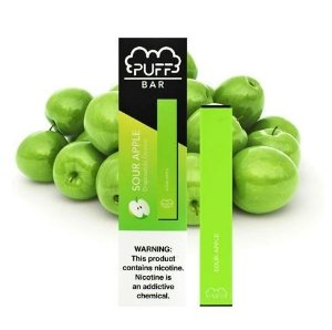 PUFF BAR - DISPOSABLE POD DEVICE - DESCARTAVEL- SOUR APPLE