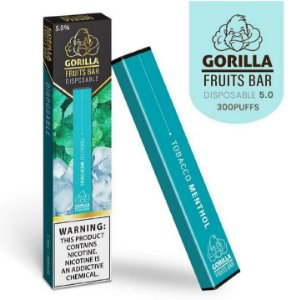 GORILLA FRUITS BAR -  DESCARTAVEL - TOBACCO MENTHOL