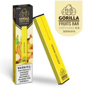 GORILLA FRUITS BAR -  DESCARTAVEL - BANANA CUSTARD