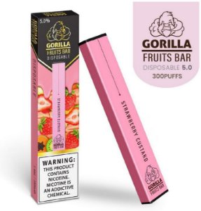 GORILLA FRUITS BAR -  DESCARTAVEL - STRAWBERRY CUSTARD