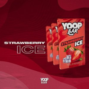 YOOP BAR POD STRAWBERRY ICE 60MG SALT NIC - COMPATÍVEL COM O JUUL