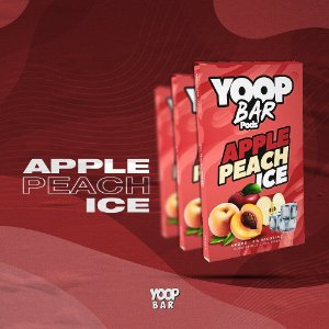 YOOP BAR POD APPLE PEACH ICE 60MG SALT NIC - COMPATÍVEL COM O JUUL