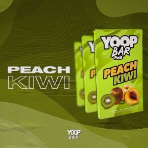 YOOP BAR POD PEACH KIWI 60MG SALT NIC - COMPATÍVEL COM O JUUL