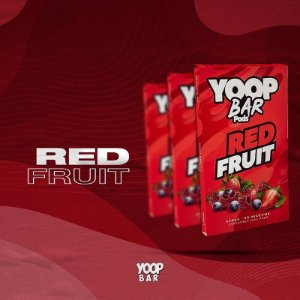 YOOP BAR POD RED FRUIT 60MG SALT NIC - COMPATÍVEL COM O JUUL