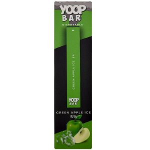 YOOP BAR DISPOSABLE POD DEVICE 50MG NIC SALT - DESCARTAVEL- GREEN APPLE ICE