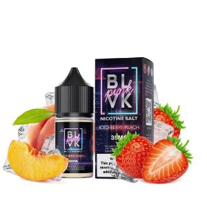 LIQUIDOS SALT NIC  BLVK - ICED BERRY PEACH 30ML