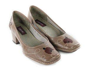 Sapato Galeany Argila Salto baixo