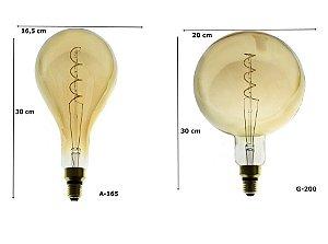 Lâmpada Filamento De Carbono Retrô Grande Thomas Edison 40W 2700K E-27 - GMH