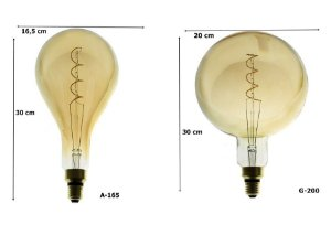 Lâmpada Filamento De Carbono Retrô Grande Thomas Edison 40W 2700K E-27