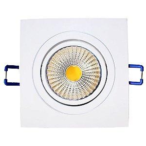 Spot de Embutir Quadrado Branco COB LED 5W Bivolt