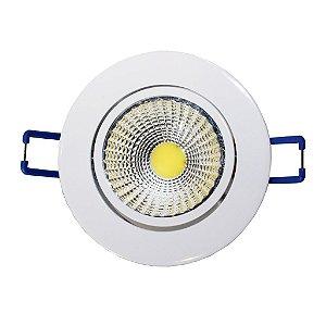 Spot de Embutir Redondo Branco Cob LED 5W Bivolt - Eklart