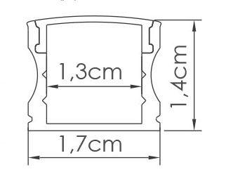 Perfil Sobrepor 1m Slim Fita LED - LUM12