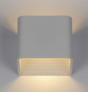 Arandela Cubo de LED 5W com Facho Duplho para Parede IP54 2700K