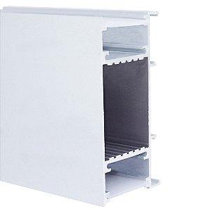 Perfil de Sobrepor Parede 2 Metros 2 Fachos Para Fita LED Com Difusor Leitoso - LUM91