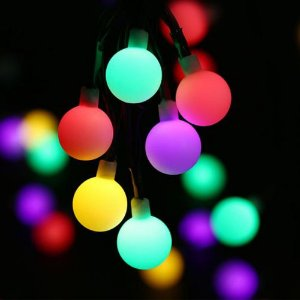 Cordão de Luz Led com 28 Mini Bolinhas de Acrílico RGB Automático