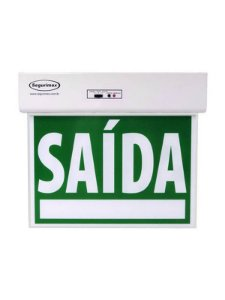 Sinalização Saída de Emergência Standard Dupla Face Verde Seletor e Adesivos  - 24160