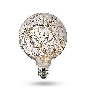 Lampada Led Fio Fada Ballon 4w G125 Decorativa 2200k Bivolt
