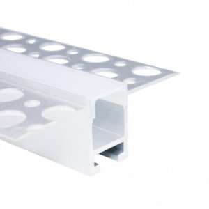 Perfil Alumínio 2m Fita LED Detalhes Furados - LUM94