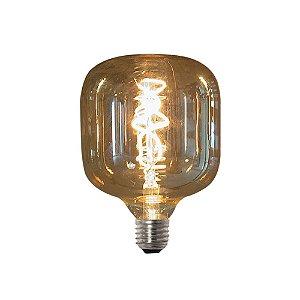 Lâmpada Vintage Retrô Filamento de Led Vetro T125 4W  Bivolt