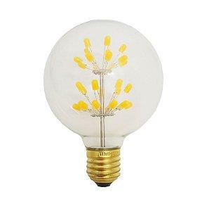 Lâmpada de Filamento de LED G95 Efeito Árvore Vidro Transparente