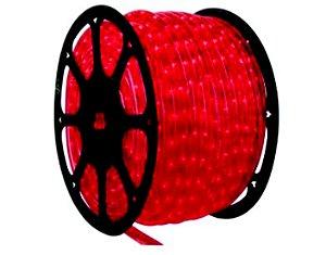 Mangueira de Led Redonda Vermelha 100 metros + 5 Conectores