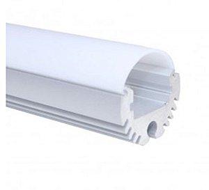 Perfil Cabideiro/Sobrepor 2 metros Para fita LED LUM75