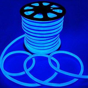 Fita Led Neon Rolo 100m 16*8 Azul 12w/m - JK