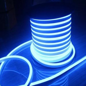 Fita Led Neon Rolo 100m 16*8 Azul Ciano 12w/m - JK