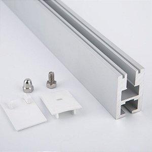 Perfil Fixação Vidro 1m Fita LED - LUMGP1