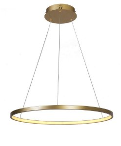 Lustre Pendente Led Integrado 1 Aro Anéis Ring
