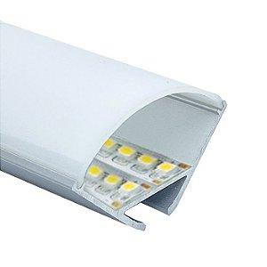 Perfil Sobrepor 2m Fita LED Canto Redondo - LUM32G