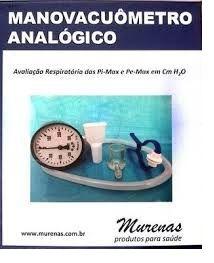 MANOVACUÔMETRO ANALÓGIO MURENAS 60/120/150/300 cmH2O ANVISA - COMPLETO