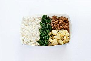 Comidinha - Músculo bovino, arroz, feijão preto, batata e couve