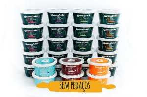 SEM PEDAÇOS - Kit Mensal Fase 2 + Sobremesas (20 papinhas salgadas + 6 sobremesas)