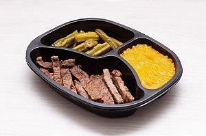 (APENAS SP) LowCarb - Entrecote + creme de cenoura + quiabo