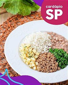 SP | F3 - Músculo bovino, arroz, feijão, batata e couve